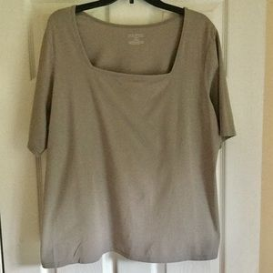 Lane Bryant Top Size 18/20 Taupe